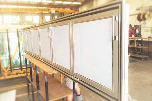 STAINLESS STEEL SWING DOOR INSERT [UNDER BAR FRIDGE] (2)